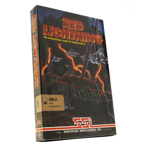 "Brand New! AMIGA ""RED LIGHTNING"" Factory Sealed! WWIII COMPUTER GAME World War 3"
