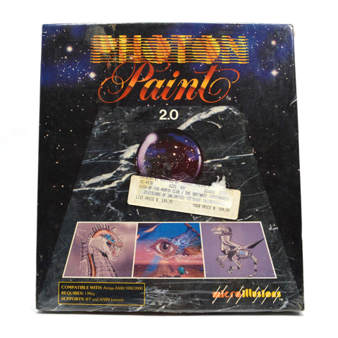 "New! AMIGA ""PHOTON PAINT 2.0"" Factory Sealed COMPUTER GAME Disk of Month Club!"