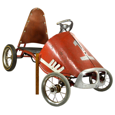 "Vintage MURRAY ""FIRE BALL"" PEDAL RACE CAR c.1960's No. 1 CUSTOM HIGH-BACK Rare!"