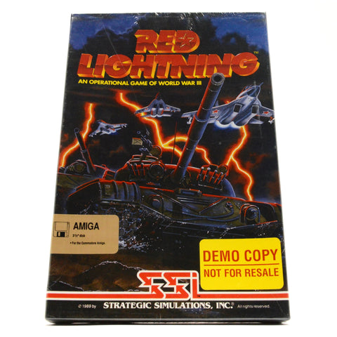 "Demo Copy! AMIGA ""RED LIGHTNING"" Factory Sealed! WWIII COMPUTER WAR GAME New!!"