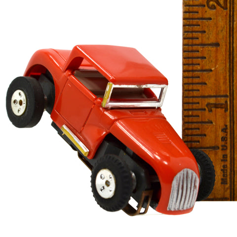 Vintage AURORA T-JET SLOT CAR Red 1932 FORD DEUCE COUPE HOT ROD **Has Issues**