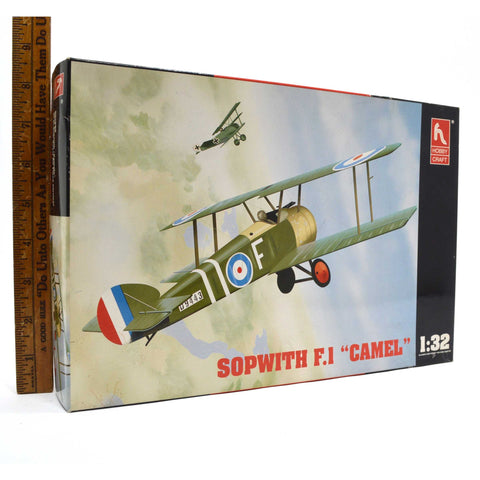 "New (Open Box) HOBBY CRAFT AIRPLANE MODEL KIT 1:32 #HC1685 ""SOPWITH F.1 CAMEL"""