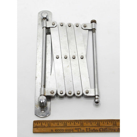 Vintage TELESCOPING WALL-BRACKET Marked JAPAN Chrome Hardware for SHAVING MIRROR