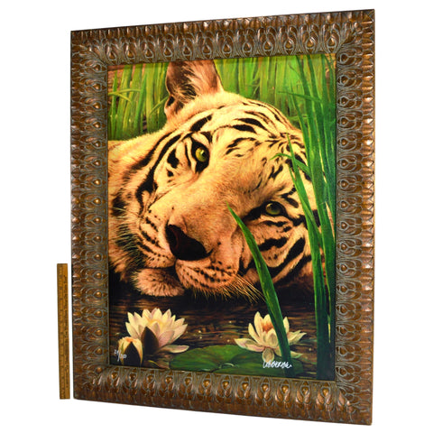 "Original Art LAZY BENGAL TIGER Giclee on Canvas SIGNED PRINT #29/250 ""WEBER_ _""?"