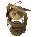 Antique DIETZ KING FIRE DEPT. LANTERN (No Globe) ALL BRASS c.1907 INSANE PATINA!