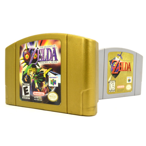Nintendo N64 Lot of 2 ZELDA GAMES! Cartridges Only MAJORA'S MASK Ocarina of Time