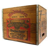 "Vintage BUDWEISER ""THE WINNING TEAM"" BEER CRATE Clydesdale VINYL RECORD BOX Rare"