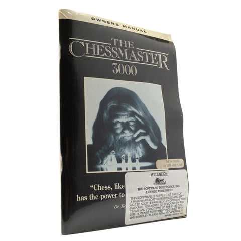 "Factory Sealed! ""THE CHESSMASTER 3000"" with ""OWNERS MANUAL"" New!! COMPUTER GAME"