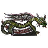 "Homemade OOAK ""INK WORKS TATTOO & PIERCING"" SIGN Local Small Business 48"" DRAGON"