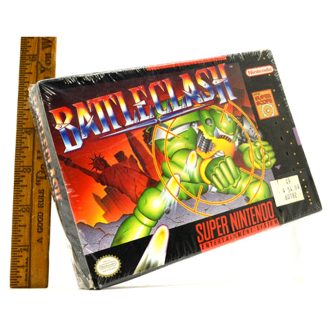 Factory Sealed SUPER NINTENDO (SNES) BATTLE CLASH Video Game BRAND NEW in SHRINK