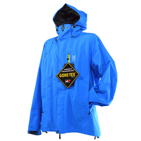 "New w/ Tags! HAGLOFS ""VANDRA III"" JACKET #602755 Gale Blue GORE-TEX Size: LARGE"