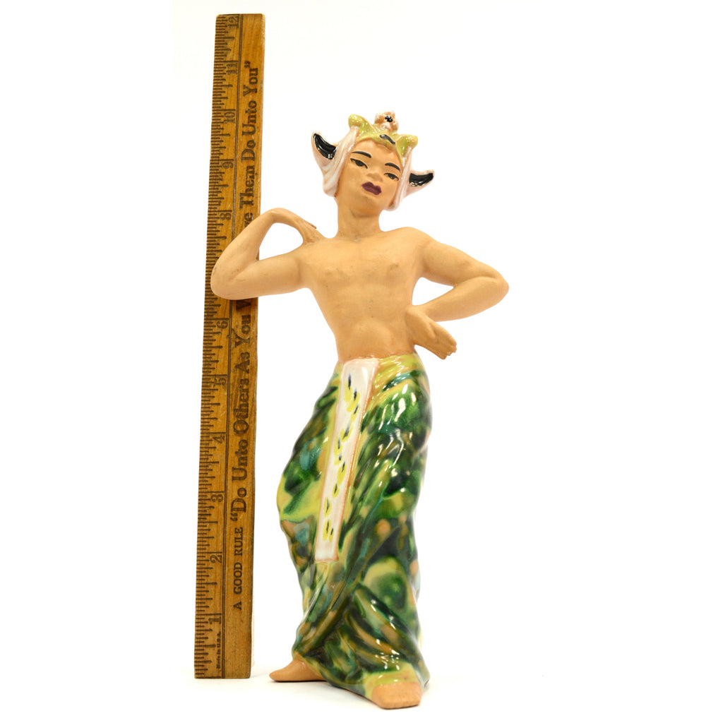 "Vintage CERAMIC ARTS STUDIO FIGURINE 9.75"" Indonesian Dancer DANCING ISLAND MAN"