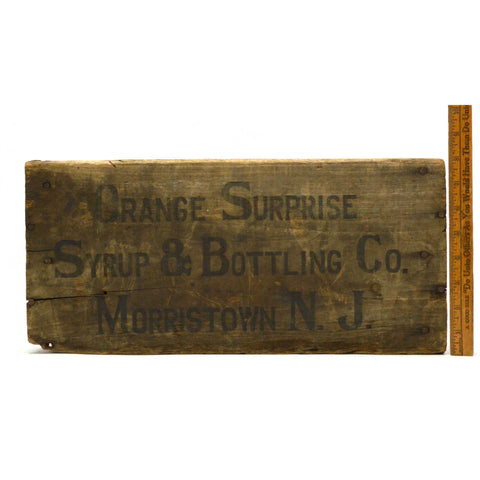 "Antique SODA CRATE Rare ""ORANGE SURPRISE SYRUP & BOTTLING CO"" Box MORRISTOWN, NJ"