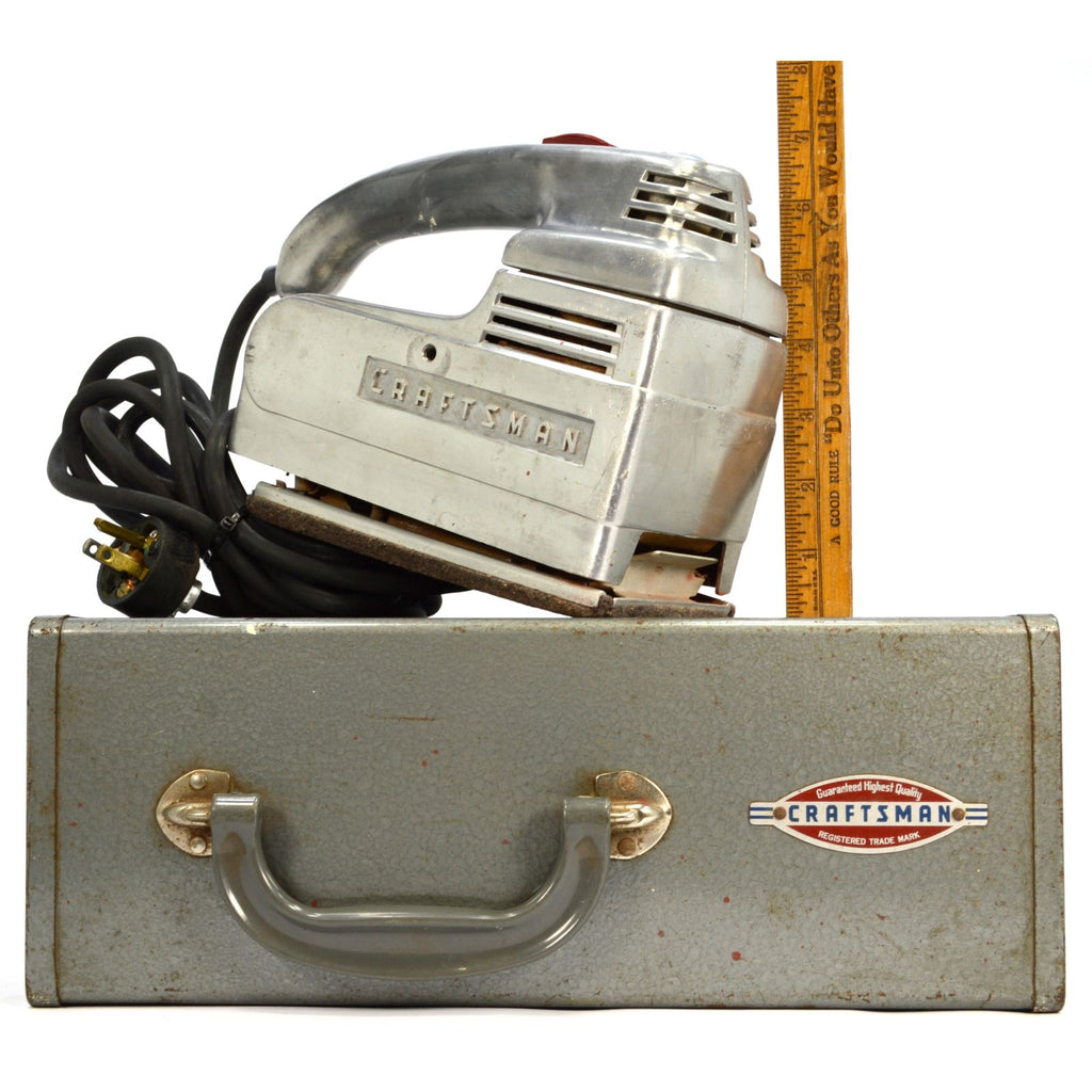 Vintage CRAFTSMAN SANDER-POLISHER Mo  110 7800 in ORIGINAL METAL CASE  c 1950-60s