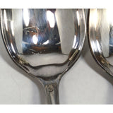 Antique ERCUIS SILVER-PLATE FLATWARE Lot 9 Oval DESSERT/SOUP SPOONS Wave Pattern