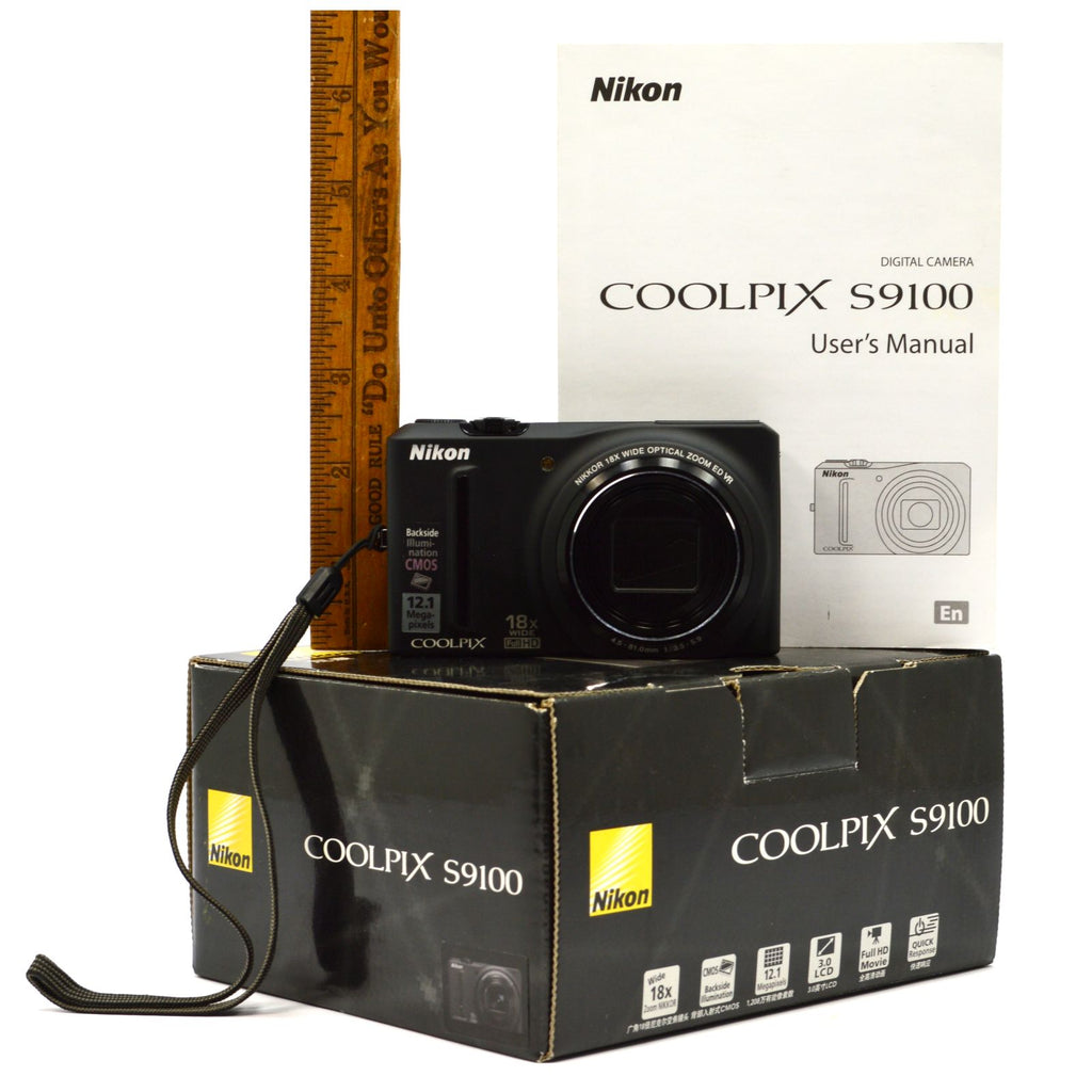 new in opened box nikon coolpix no s9100 digital camera black 12 1 rh getagripandmore com Nikon Coolpix S3000 Nikon Coolpix 3200 Digital Camera