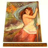 "Antique ""METROPOLITAN"" JULY 1915 MAGAZINE Nude KAY LAURELL as LIBERTY Cover RARE"