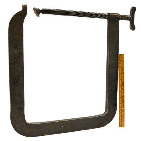 "Vintage HARGRAVE ""SUPERCLAMP"" Huge 12""x16"" Deep Throat STEEL CLAMP No. 44-X Rare"