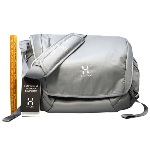 "Brand New HAGLOFS NODE MESSENGER 17"" SHOULDER BAG No. 338727 Color: GRANITE/Gray"