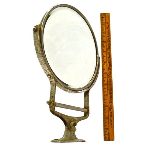 Vintage WALL-MOUNTED SHAVING / VANITY MIRROR Adjustable ROTATES, SPINS & TILTS!!