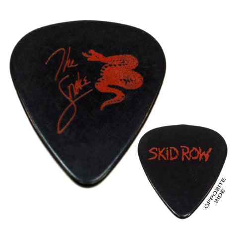 "Original SKID ROW ""THE SNAKE"" TOUR GUITAR PICK Dark Red on Black c.1990's SCARCE"