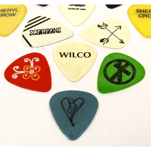 Original TOUR GUITAR PICK Lot of 12 Concert Picks SCORPIONS Foreigner AEROSMITH