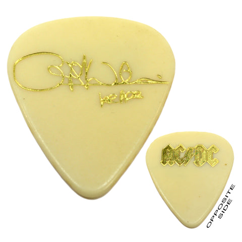 Original AC/DC TOUR GUITAR PICK Off-White & Gold CLIFF WILLIAMS Razor's Edge '90