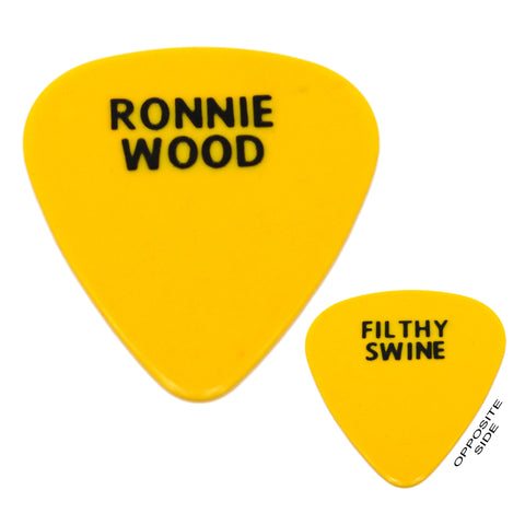 "Rare! ROLLING STONES GUITAR PICK The Voodoo Lounge ""RONNIE WOOD, FILTHY SWINE"""