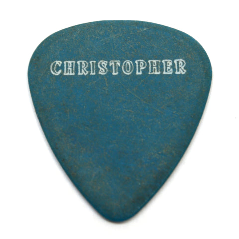"Original BLIND MELON TOUR GUITAR PICK White on Teal-Blue ""CHRISTOPHER"" c.1990's"