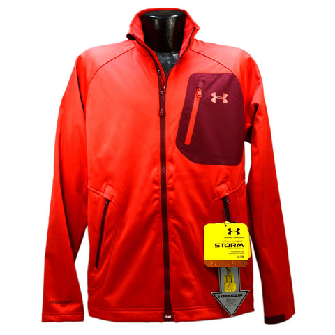 "New w/ Tags UNDER ARMOUR ""STORM"" JACKET w/ MAGZIP! Red, Sz: Med. ALL SEASON GEAR"