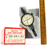 "Used Once STARRETT DIAL INDICATOR #25-341/5J in ORIGINAL BOX 0-50-0, .500"" Range"