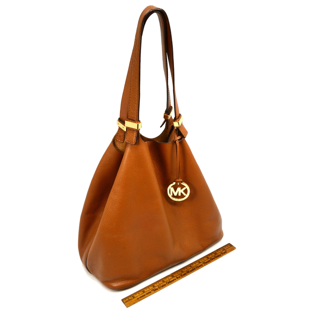 ca80b2caf66a 00580 715bc; norway briefly used michael kors colgate shoulder tote grab bag  brown leather large mk bd098 4d0e1