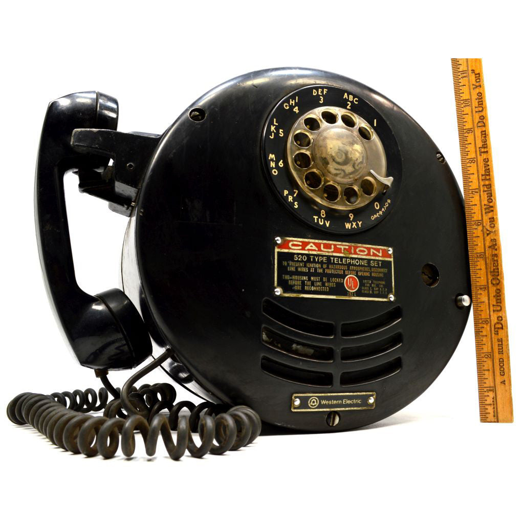 Vintage Western Electric Type 520 Telephone Set Quot Spark