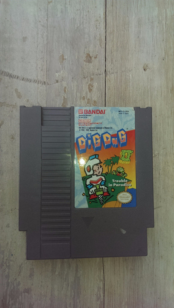 Dig Dug 2 II NES Game Cartridge only Nintendo