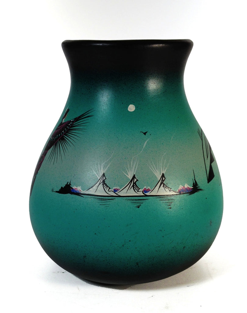 Cedar Mesa Native American Mystique Maiden Vase - Signed