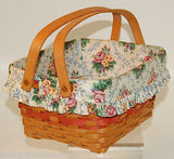 Longaberger 1997 Mother's Day Timeless Memory Basket w/ Insert LOOKS GREAT!!!!