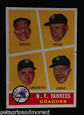 Topps 1960 Yankees Coaching Staff - #465 Baseball Card