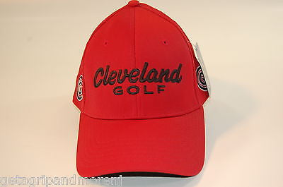 Cleveland Golf Ball Cap Golf Hat - Red - NEW w/TAGS!!