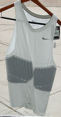 Nike Pro Combat Vis-Deflex Men's Basketball Shirt White XXL NEW!!!
