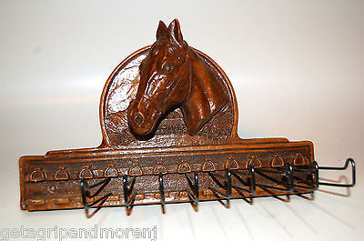 Syroco Horse Belt Tie Rack Hanger Holder Wood Composition