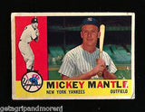 Topps 1960 Mickey Mantle #350 Hall of Fame Yankees Baseball Card