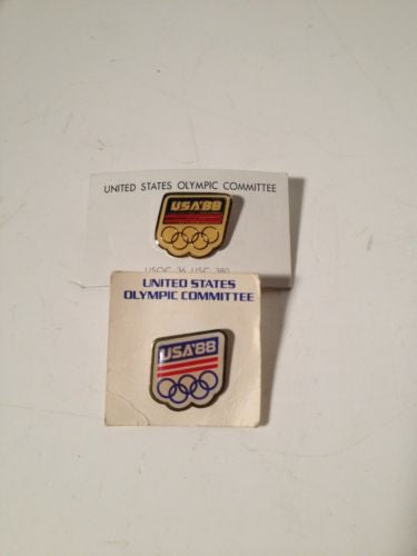 14 Olympic Pins LOT Dates: 1981 - 1988