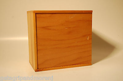 Wood Wooden BOX Handmade Finger Joint Construction Trinket Storage Vintage