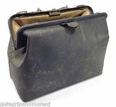 "Doctors Dr. Medical Hand BAG Satchel Leather Bag 18"" Antique Old House Calls"