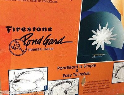 10 x 10 Firestone .045 mil EPDM Flexible Fish Pond Liner for Water Features!!