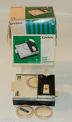 Dymo Desk Tapewriter 2000 Vintage!!! w/ 3/8 and 1/4 Wheels