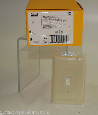 Wall Plate Single Switch Pack of 25 Hubbell (Color: Ivory) NEW!!!