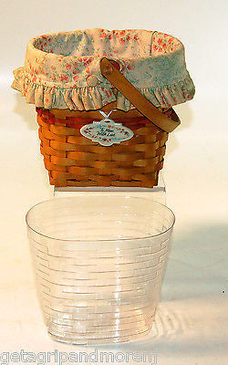 Longaberger 2001 Mother's Day Vintage Blossoms Basket w/ Insert LOOKS GREAT!!!!