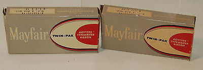 Mayfair Twin-Pak Roytype Typewriter Ribbon Black Red 112x99 919x16 VINTAGE!!!