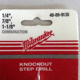 Milwaukee Self-Start KO Step Drill 48-89-9135 Combo NEW!!!
